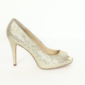 White House Black Market Heels New Gold Stiletto